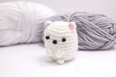 A free pattern for a little amigurumi polar bear. #crochet #amigurumi #kawaii