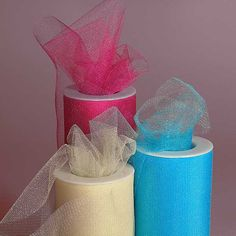 This site has everything imaginable for decent prices!  I can think of so many uses for these rolls of Shimmer Tulle alone (window-dressing, displays, etc...).