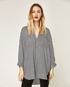 CHECKED BLOUSE-View all-TOPS-WOMAN   ZARA United States