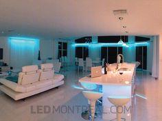 Design LED pour Villa en Floride par Sylvain - LED Montréal