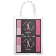 Cancer For Mom Grocery Bag
