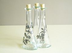 Oil Vinegar Cruet set Pewter Olive Grape Motif by Loutul on Etsy, £30.00