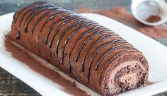 Κλασσική συνταγή για Κορμό σοκολάτας με αφράτη γέμιση και απίθανη γεύση