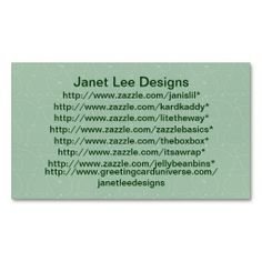 Custom Green Floral Business Card