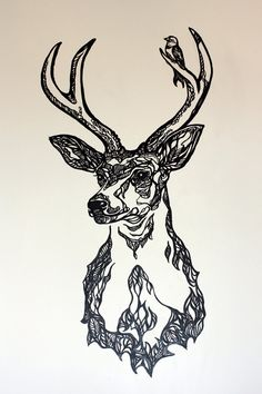 deer tattoos # view/buy temporarry tattoos here http://www.iosapps8.com/tattoo