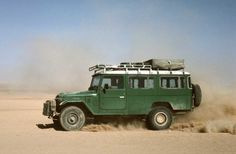 Toyota Land Cruiser BJ45. Like a Troopy and I think it's diesel!