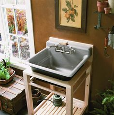 Outdoor sink idea or for the honey house