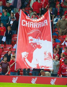 Luis at Anfield to see very own banner - 'Garra Charrua' #LFC