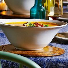 Chipotle peppers give this creamy soup a bit of heat, while smoked Gouda cheese…