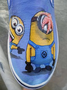 minion vans shoes | ... Me 2 Agnes Minions Gru's Dog Kyle Custom Painted Toms Vans Shoes