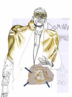 Dominic Huckbody, a first-year student on the BA Fashion Design course at Westminster, has been announced this week as the winner of the 2017 #DRAWFASHION illu