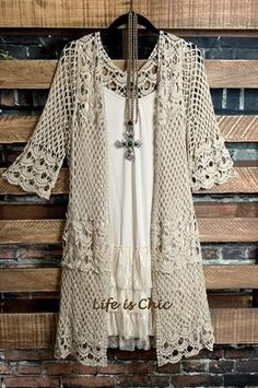 Your Shopping Cart – Life is Chic Boutique Lace Cardigan, Cardigan Outfits, Casual Outfits, Lace Tunic, Kimono Outfit, Boho Kimono, Kimono Top, Crochet Jacket, Crochet Cardigan