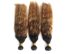 6A 3Bundles 150g Ombre Human Hair Extension Natural Wave 1B33#27# Hot sell Wefts #WIGISS #HairExtension