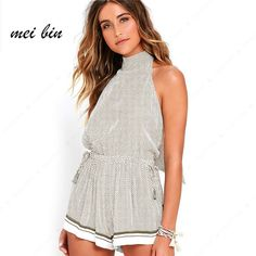 8a41de065d 2017 Women New Fashion Rompers and Jumpsuits Women elegant Backless  Sleeveless Playsuit Bodysuits Sexy Casual Playsuit