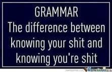Grammar police!