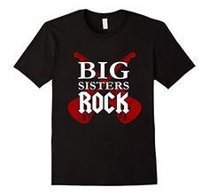 Funny Kids Shirts, Big Sister Gifts, Rock Shirts, Big Sisters, Mens Tops, T Shirt, Volcano, Amazon, Black