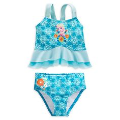6sets/lot Two Pieces Baby Girls Bathing Suits Elsa Little Girl Princess Swimsuit Children Kids Cartoon Swimwear Costumes Anna