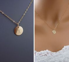 Zodiac Charm Necklace, Gold Filled or Sterling Silver