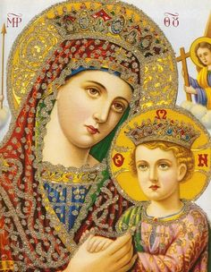 allaboutmary:    A popular print of an Orthodox icon.