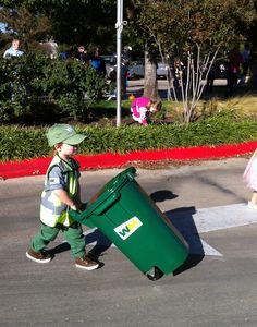Halloween garbage man costume for grandson