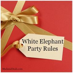 Does anyone know the rules to having a white elephant.?