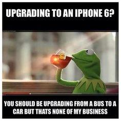 iPhone 6 Kermit meme