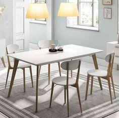 mesas decoracin retro comedor blanco muebles mesa de comedor televisin madera natural tables