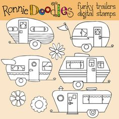 My Friend Ronnie is getting in on the action with these Funky Trailers!!!!  This item is available for instant download! as soon as your payment