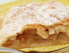 Traditional Apple Strudel can be served warm or cold drizzled if liked with a Vanillla Sauce and is a wonderful accompaniment to the afternoon Sunday coffee or tea. Pie Dessert, Eat Dessert First, Dessert Recipes, German Desserts, Just Desserts, Apple Recipes, Sweet Recipes, Deutsche Desserts, Austrian Cuisine