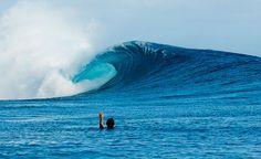 Chris Burkard in Tahita body surfing