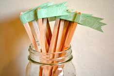 How to DIY your own custom flag drink stirrer. So cute!! So easy! Put your initials separated by a heart!