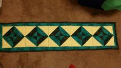 """Table runner. 54"""" × 14"""". Daughter wanted one...hope she likes it."""