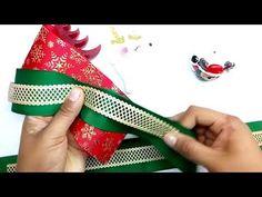 Como hacer un moño navideño fácil y elegante - DIY - YouTube