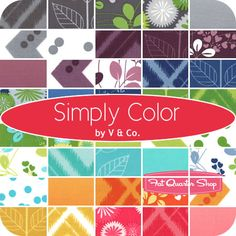 Simply Color Fat Quarter Bundle V and Co. for Moda Fabrics - Fat Quarter Shop