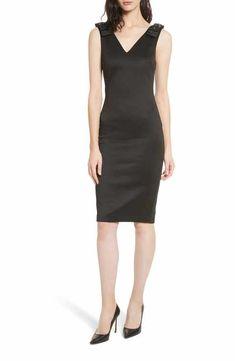 b21450ceb74f6e Ted Baker London Belliah Bow Shoulder Body-Con Dress Lbd