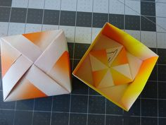Next time you give a gift, put it in a homemade origami box.