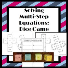 ***Freebie: Solving Multi-Step Equations: Students will put 4 cubes together. Each cube has 1 part on an equation on it. They will use the information on the cubes to create 12 multi-step equations to solve! Teaching Activities, Math Resources, Teaching Math, Teaching Ideas, Math Strategies, Math Teacher, Math Classroom, Teacher Tips, Teacher Stuff