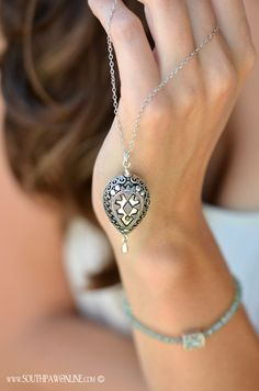 Great for layering. Large Bali Teardrop 30 inch sterling silver necklace
