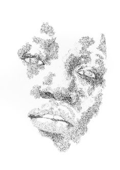 Available for sale: MARKS OF ME original drawing in ink on paper by emerging artist Zona Magadla, size 60 x unframed. Black And White People, Personal Investigation, Portrait Wall, Black And White Drawing, Stippling, Drawing People, African Art, Creativity, Ink