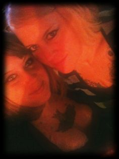 Daughter to the left..MOther (ME) to the right..I am 50 she is 32...WE are LIGHTWORKers
