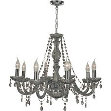 Marie Therese Smoked Crystal 8 Light Chandelier
