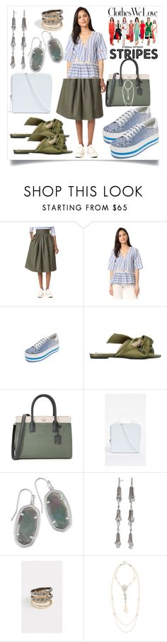 """Jean Midi Skirt..**"" by yagna ❤ liked on Polyvore featuring Stella Jean, LIV, Marc Jacobs, Kate Spade, Building Block, Kendra Scott, Alexis Bittar, Ben-Amun and vintage"