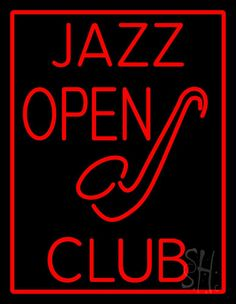 Jazz Club Open Neon Sign 31 Tall x 24 Wide x 3 Deep, is 100% Handcrafted with Real Glass Tube Neon Sign. !!! Made in USA !!!  Colors on the sign are Red. Jazz Club Open Neon Sign is high impact, eye catching, real glass tube neon sign. This characteristic glow can attract customers like nothing else, virtually burning your identity into the minds of potential and future customers. Jazz Club Open Neon Sign can be left on 24 hours a day, seven days a week, 365 days a year...for decades.