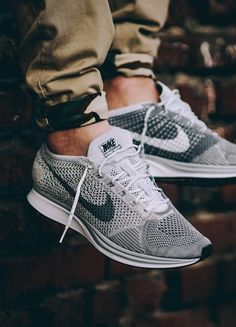 Nike Flyknit Racer Pure Platinum - 2016 (by @pangeaproductions)