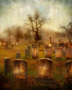 """FORGOTTEN SOULS""  This was taken on an early, foggy morning in The Olde Newbury Burial Grounds in Newbury MA. A magical moment, just as moody and dramatic as it looks.  www.karenlynchphotos.com"