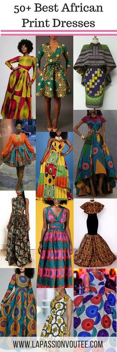 African print dresses can be styled in a plethora of ways. Ankara, Kente, &… African print dresses can be styled in a plethora of ways. Ankara, Kente, & Dashiki are well known prints. See over 50 of the best African print dresses. African Dresses For Women, African Print Dresses, African Attire, African Wear, African Fashion Dresses, African Women, African Prints, African Style, Ankara Fashion
