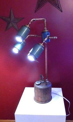 STEAMPUNK  INDUSTRIAL  TABLE LAMP/DESK LAMP #STEAMPUNK