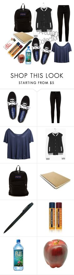 """How you like me now?"" by areutiana ❤ liked on Polyvore featuring Keds, New Look, MANGO, JanSport, Burt's Bees and Pavilion Broadway"