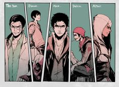 [HM/COF/P/IF/AC] The Son, Simon, Alex, Delsin and Altaïr