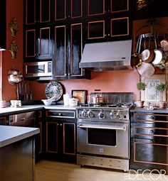 Black Magic - Total new spin on the black and red i want in my kitchen... LOVE!